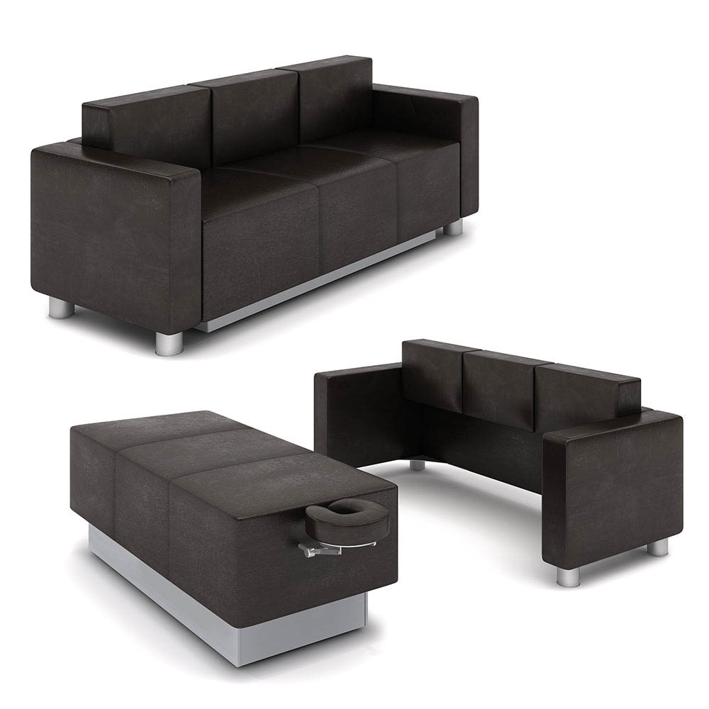 gharieni mlw transform couch und behandlungsliege in einem. Black Bedroom Furniture Sets. Home Design Ideas